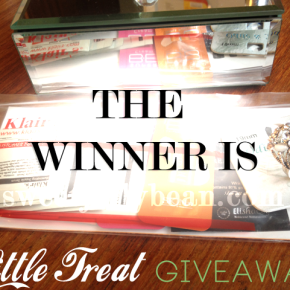 Little Treat's Giveaway Winneris….